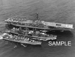 USS Lake Champlain CVA-39 & USS Forrest Sherman DD-931 refueled by USS Severn AO-61 in the North Atlantic 1961 (CVA39-01)